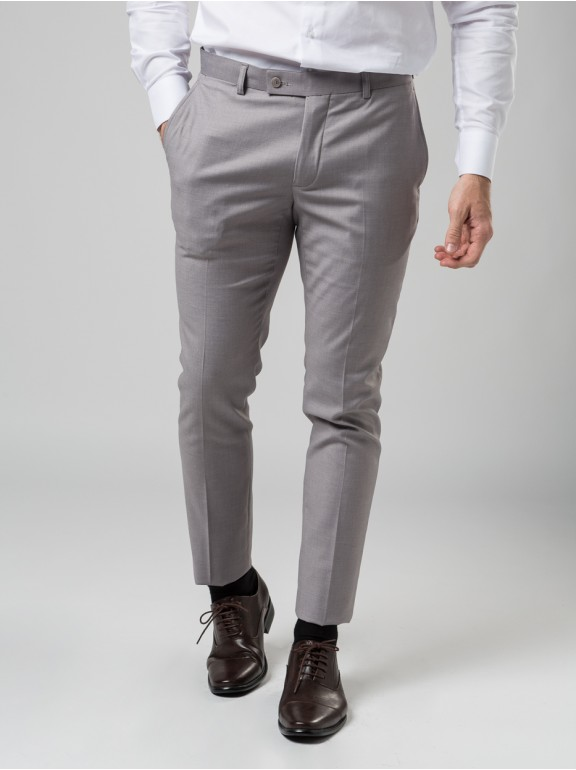 PLAIN SUIT TROUSERS