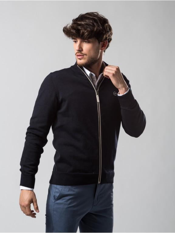 Cardigan dot zipper