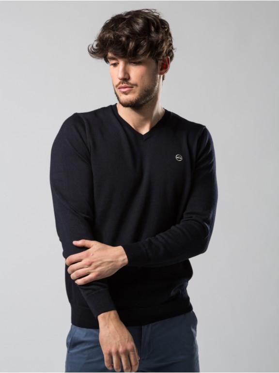 Camisa V-pescoço