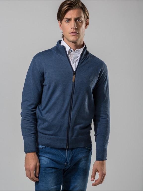 Zipper knit jacket