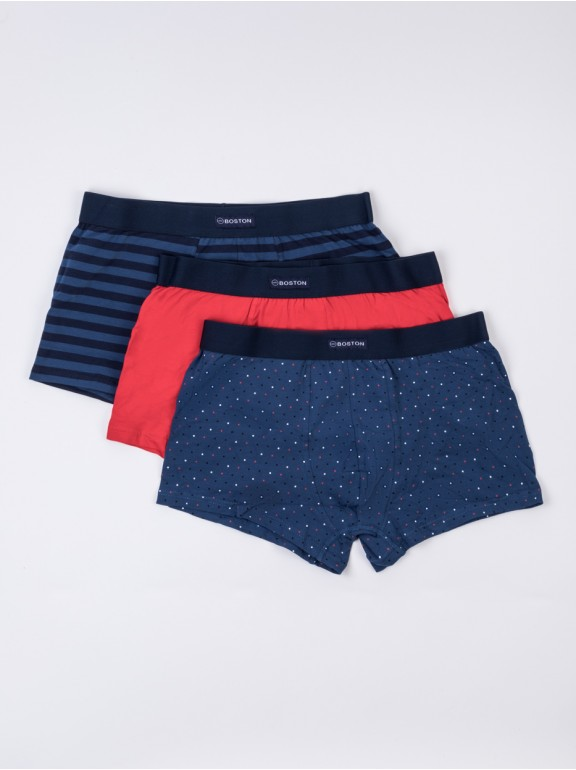 Pack 3 boxers combined