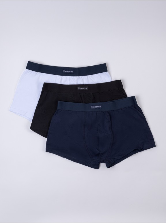 Pack 3 boxers combinados