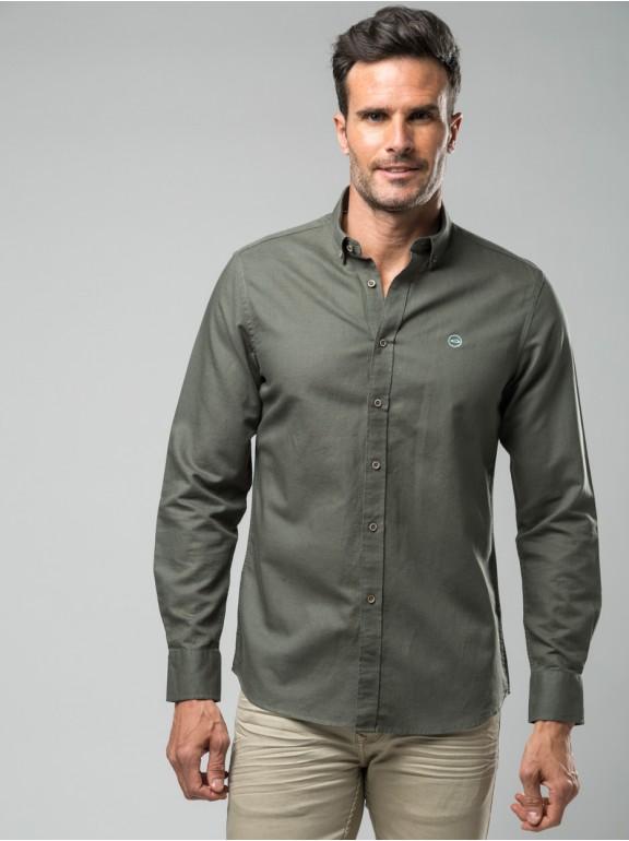Camisa de linho liso