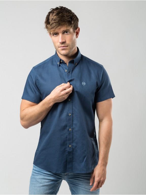 Camisa de manga curta de linho