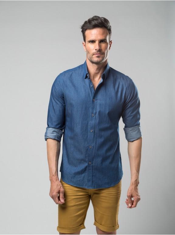 Camisa jeans esportiva