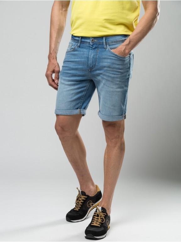 Bermudas jeans lavadas