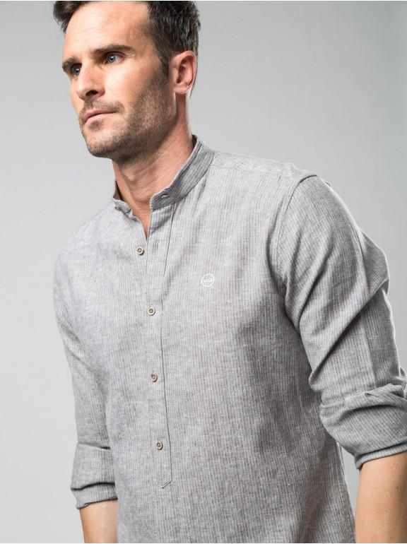 Linen shirt rayas