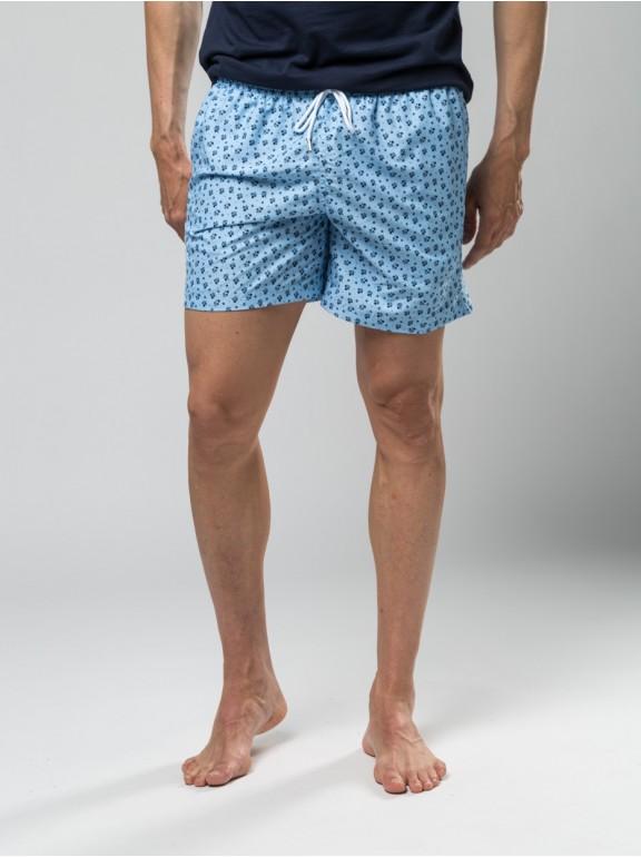 Flower-printed swimsuit